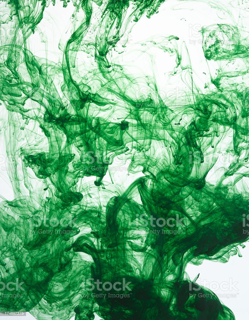 green ink three royalty-free stock photo