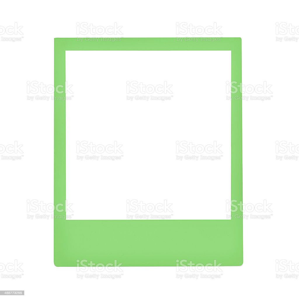 Green Instant Photo Frame Stock Photo & More Pictures of Blank   iStock