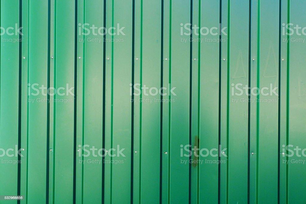 Green Iron Fence stock photo