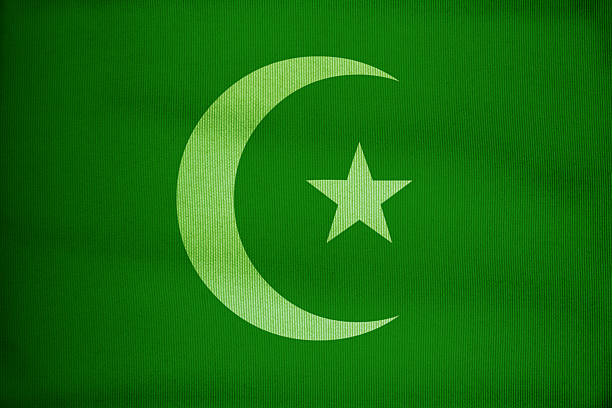green islam flag - pakistani flag stock photos and pictures