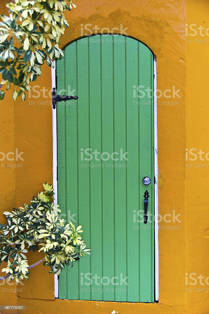 Green  Island door stock photo