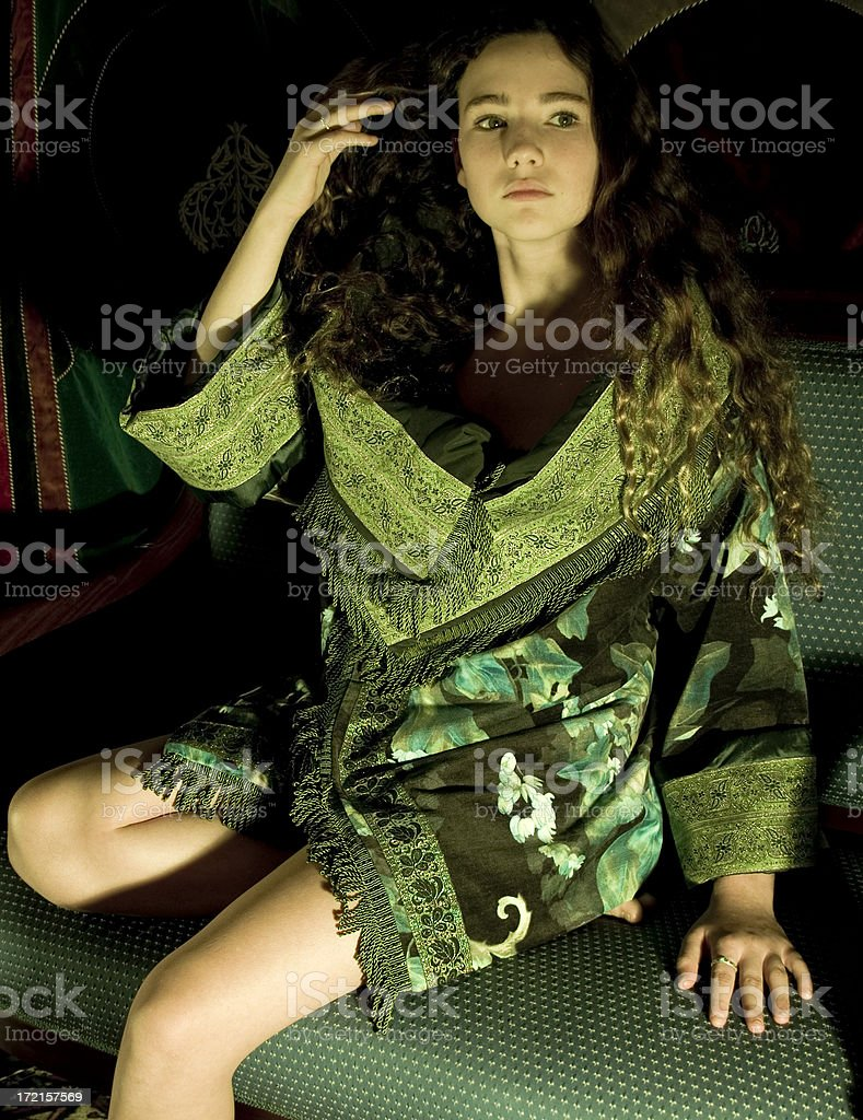 Green Jacket royalty-free stock photo