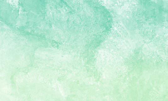 Green Jade Light Teal Mint Ombre Grunge Stone Background Abstract Putty Marble Texture Close-Up Copy Space Design template for presentation, flyer, card, poster, brochure, banner