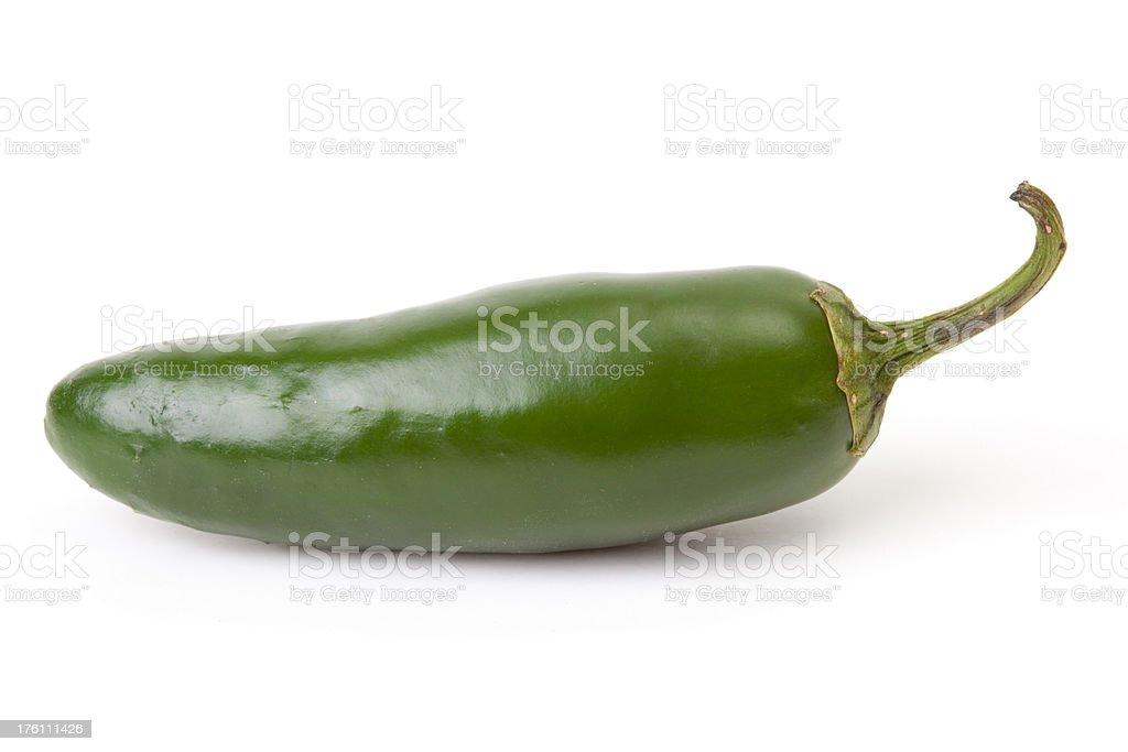 Green jalapeno hot chili pepper royalty-free stock photo