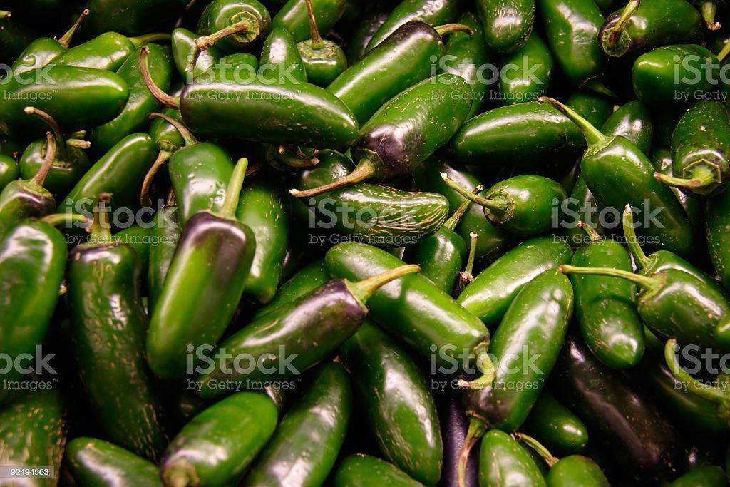 Green Jalopenos royalty-free stock photo