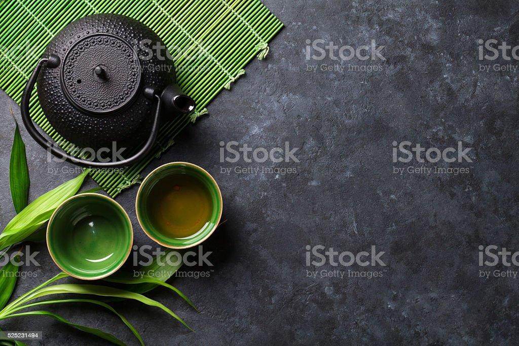 Green japanese tea stock photo