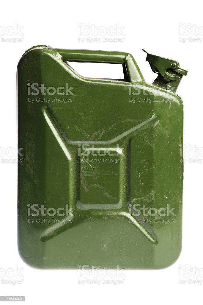 Green jerrycan stock photo