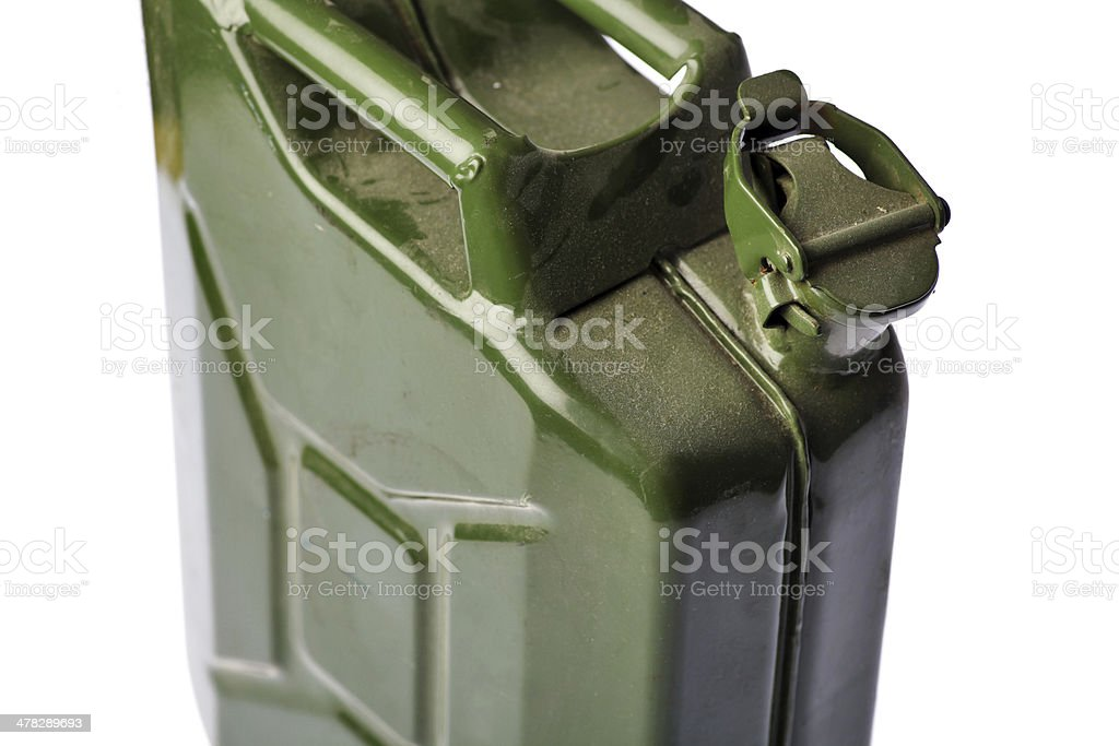 Green Jerrycan stock photo