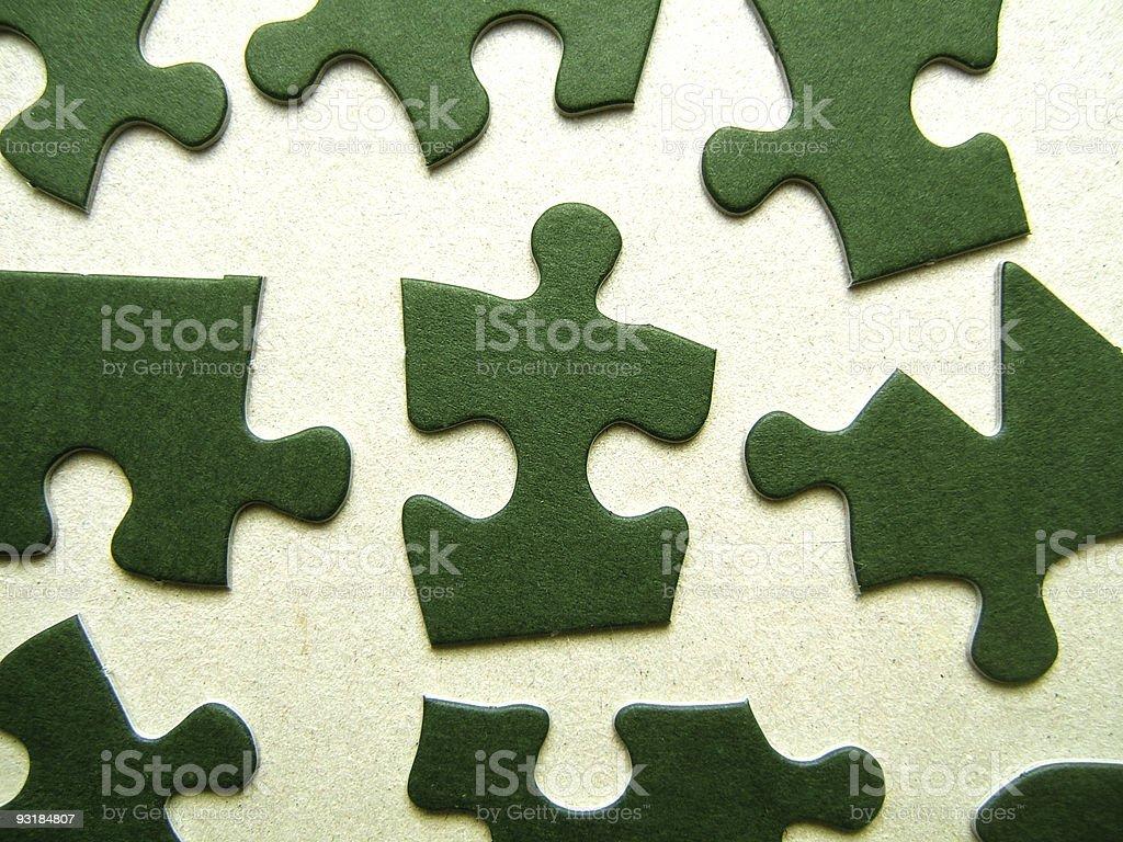 Green jigsaw elements royalty-free stock photo