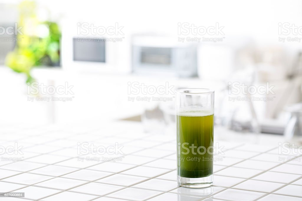 Green juice stock photo
