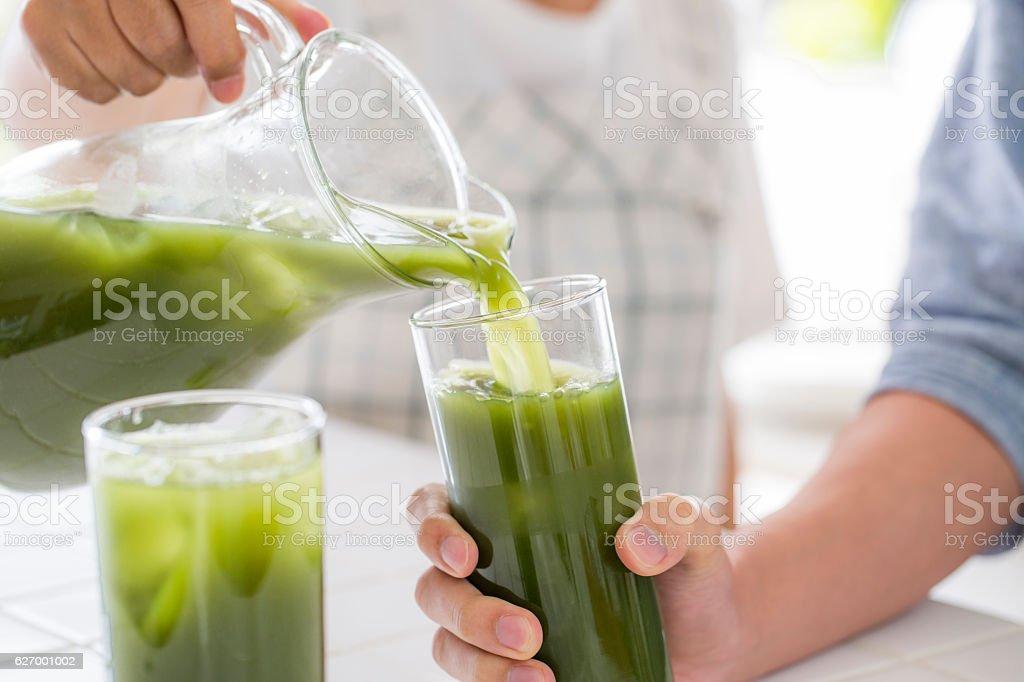 Suco verde foto royalty-free