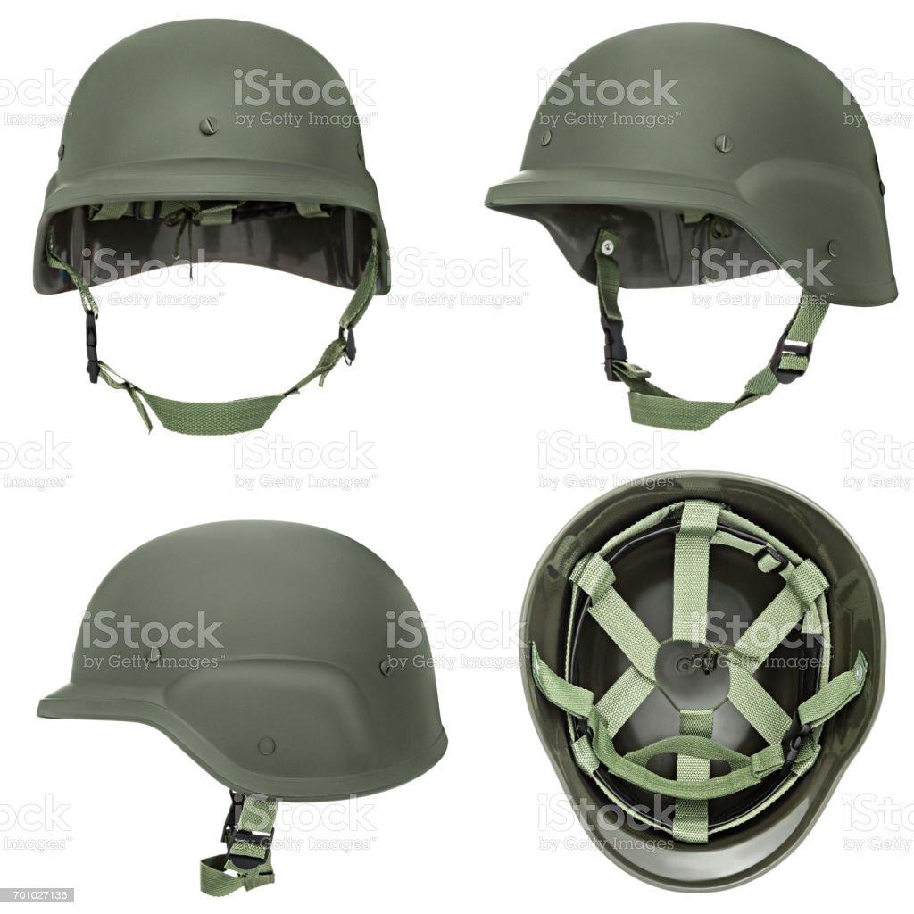 Fotografía de Casco Militar Verde Caqui y más banco de imágenes de A ... 32362313ffb