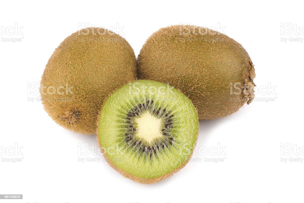 Green Kiwi fruit and slice royalty-free stock photo