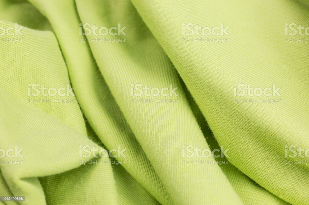 green knitted fabric background royalty-free stock photo