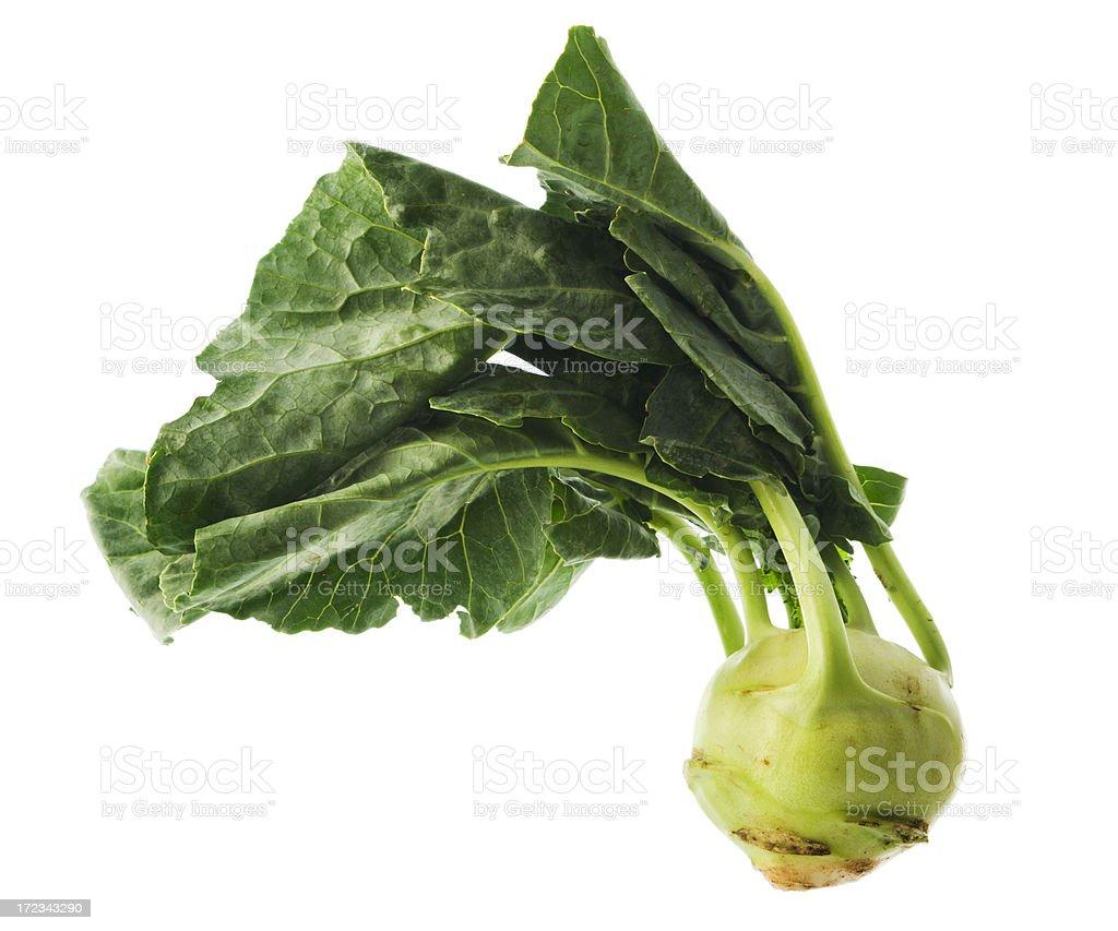 Green Kohlrabi Isolated on White royalty-free stock photo