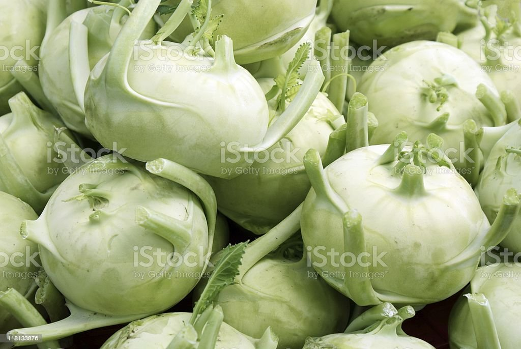 green kohlrabies royalty-free stock photo