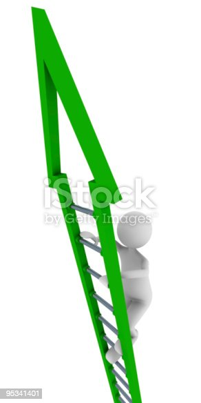 istock Green ladder of success 95341401