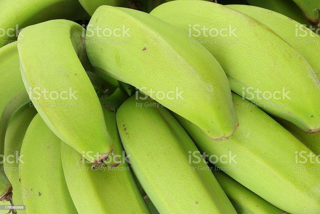 Green Ladyfinger Bananas stock photo