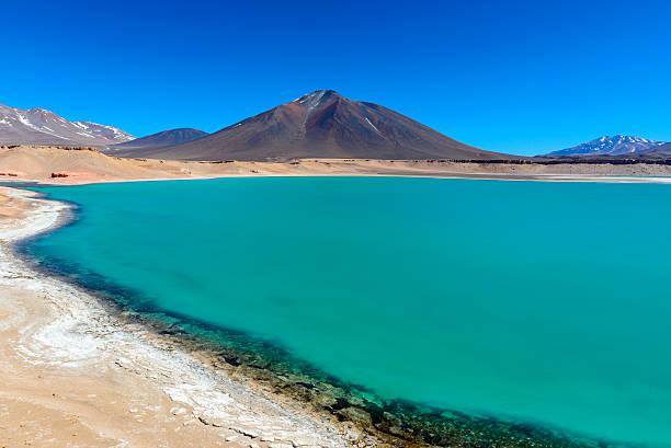 Green Lagoon (Laguna Verde), Chile stock photo