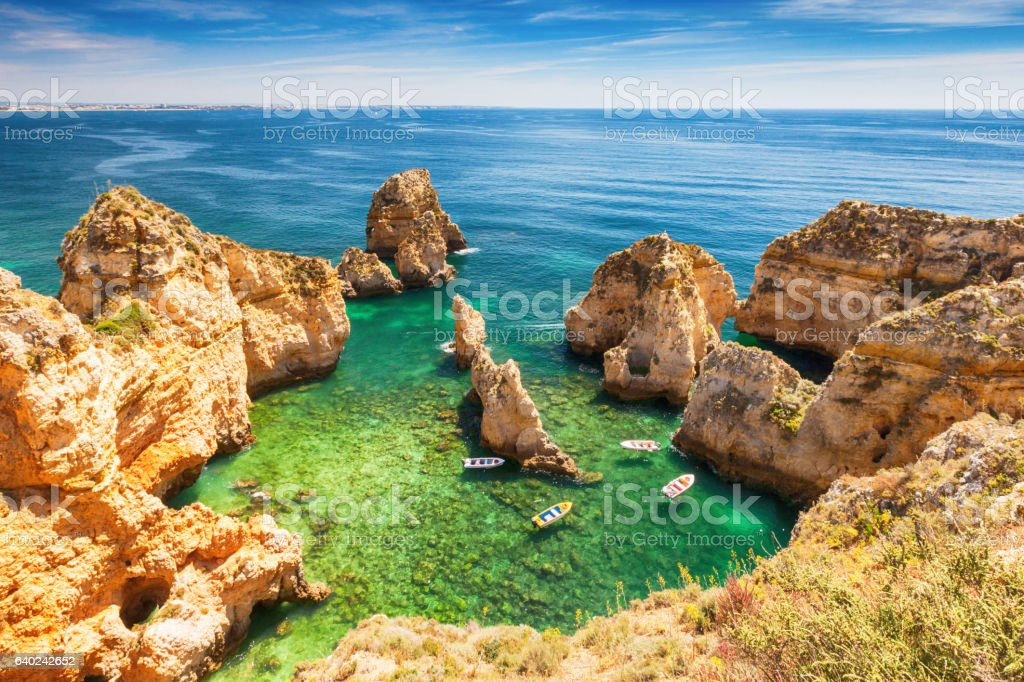 Green lagoon of Lagos stock photo