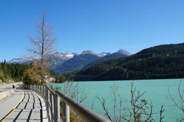 Green Lake in der Nähe von Whistler in Kanada – Foto