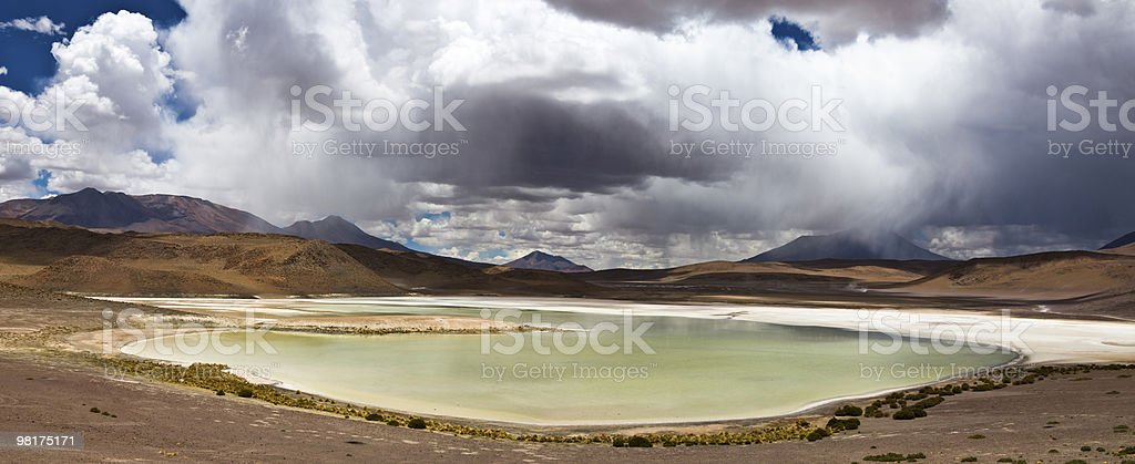 Green lake panorama royalty-free stock photo