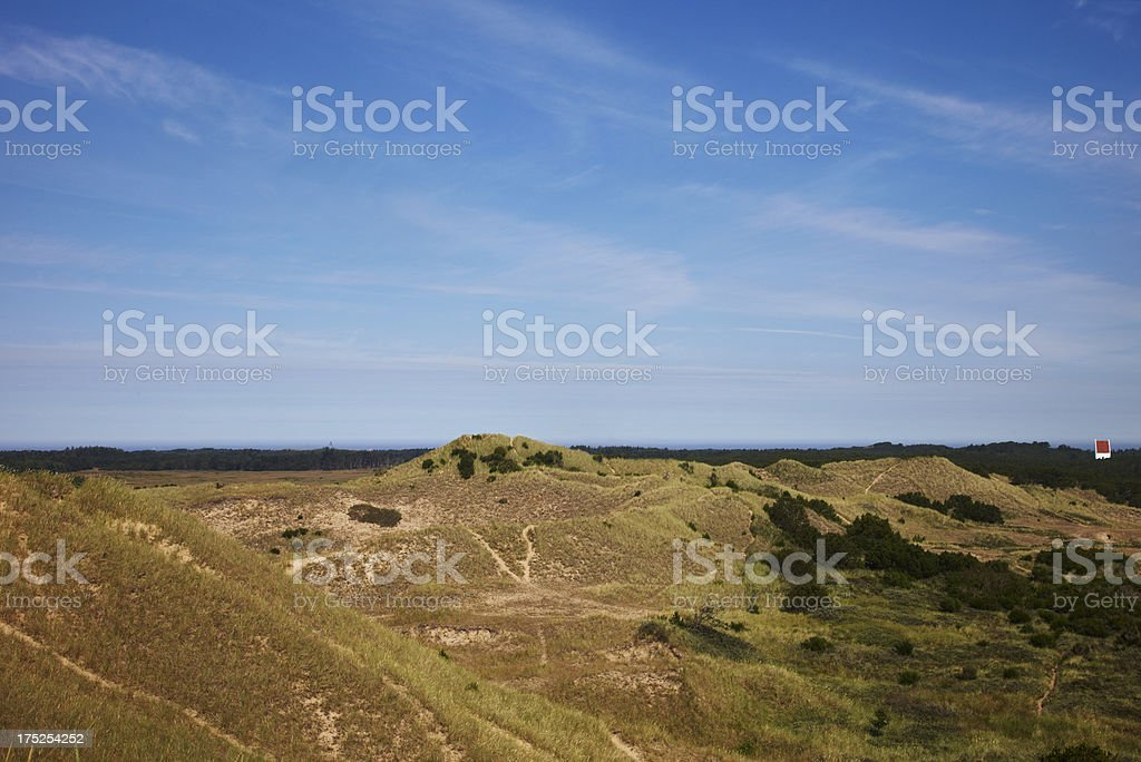 Green landscape against blue sky royalty-free stock photo