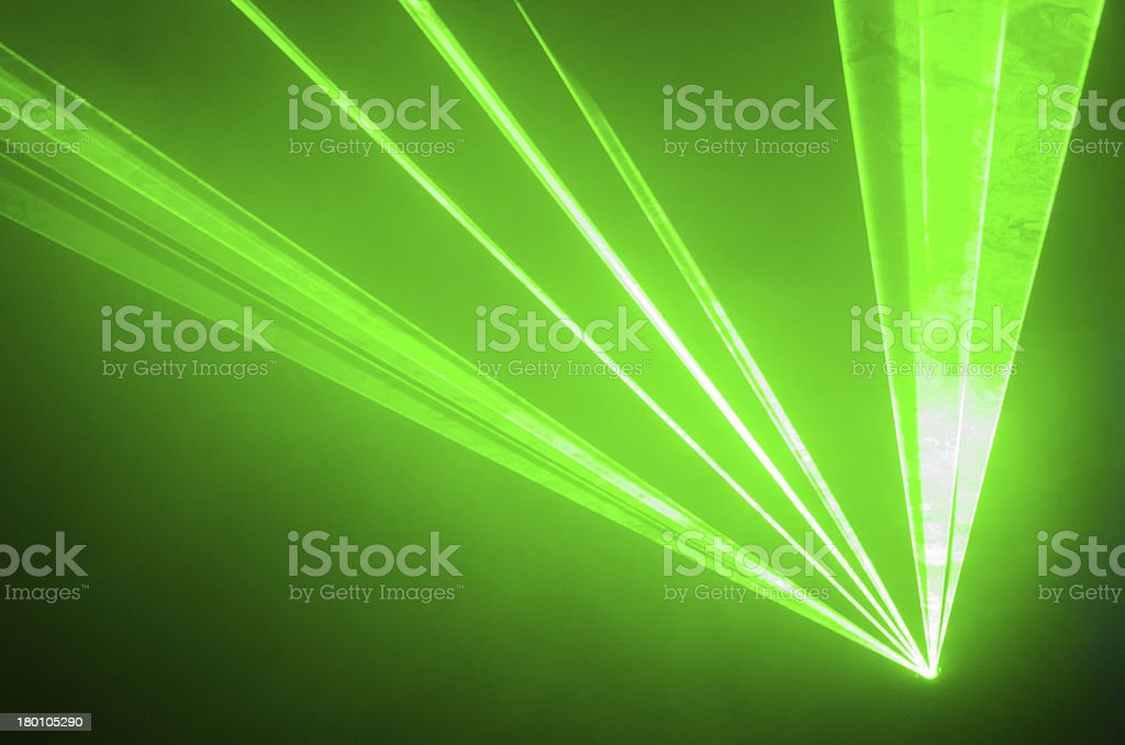 Green Laser Light stock photo