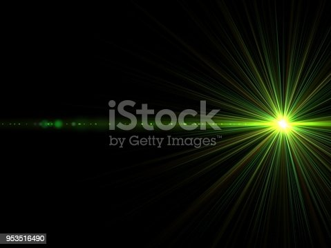 Green laser lights effect