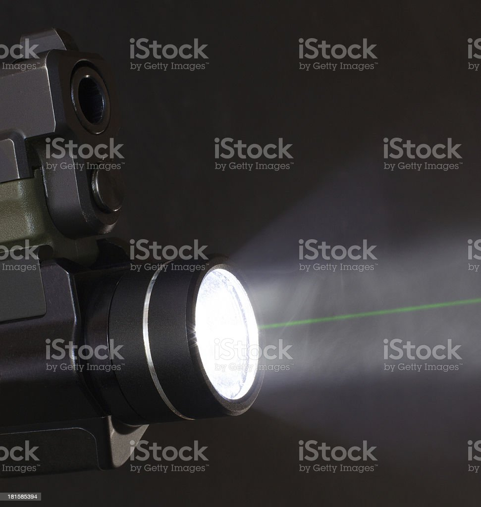 Green laser royalty-free stock photo