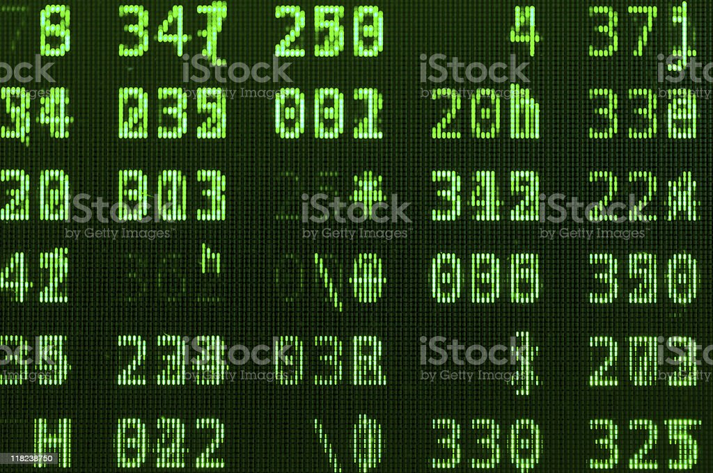 Green LCD royalty-free stock photo