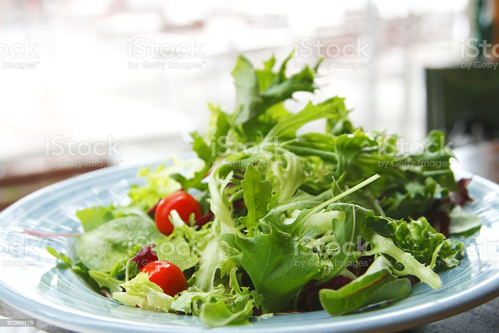 green leaf salad with cherry tomato royalty-free stock photo