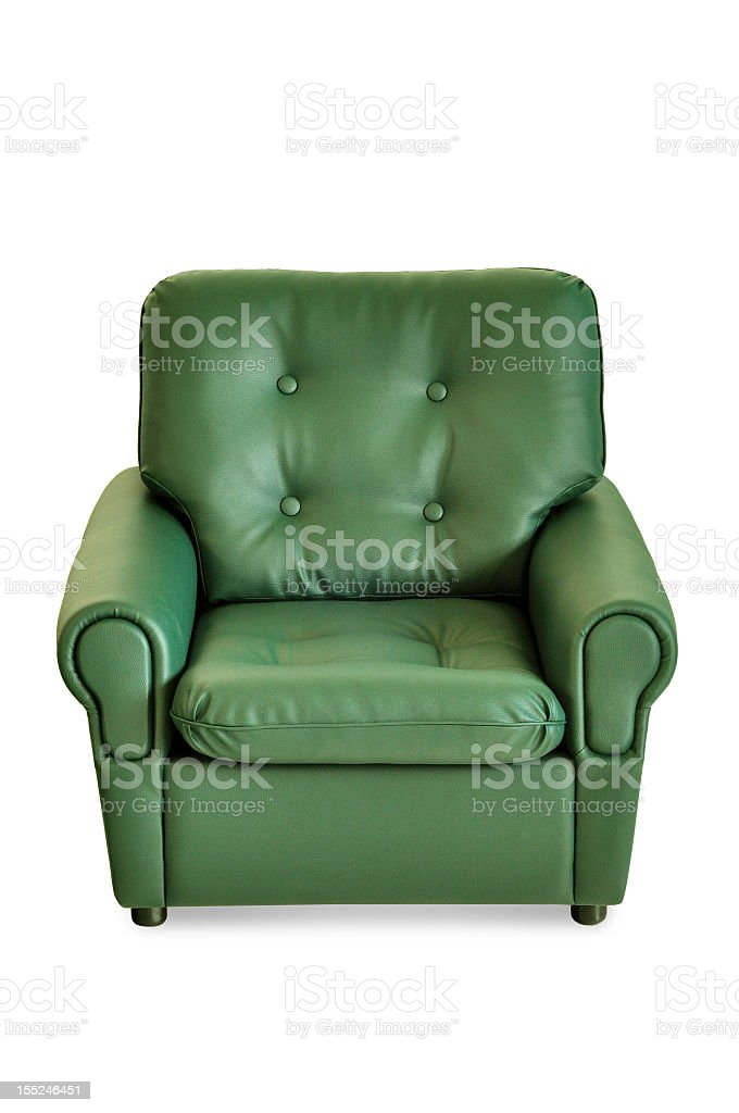 green leather armchair royalty-free stock photo