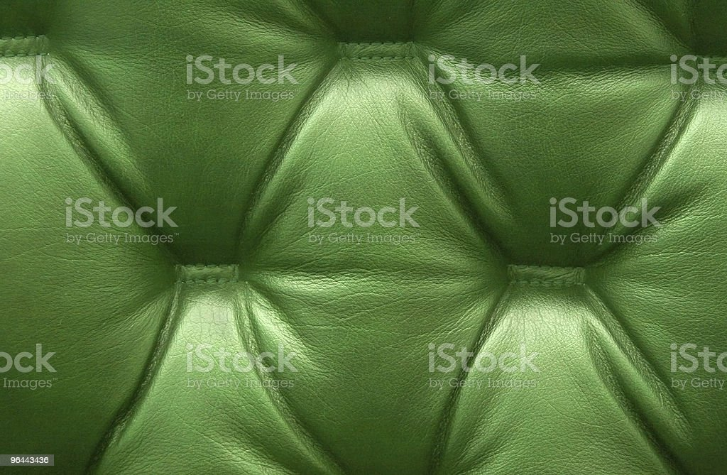 Green leather upholstery - Royalty-free Abstract Stockfoto