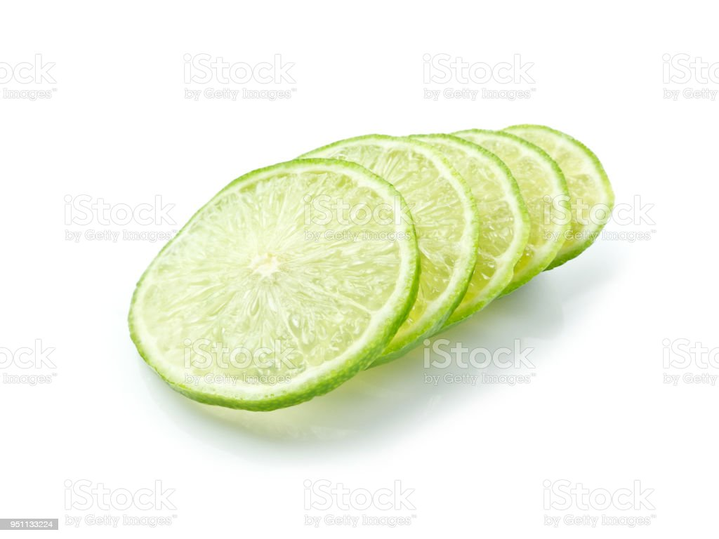 green lemon slice on white background stock photo more pictures of