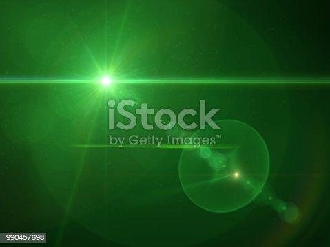 Green lens flare