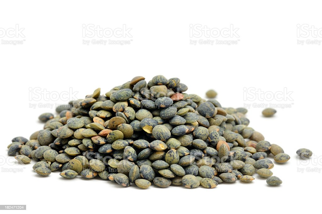 Green lentils royalty-free stock photo