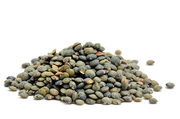 Green lentils stock photo