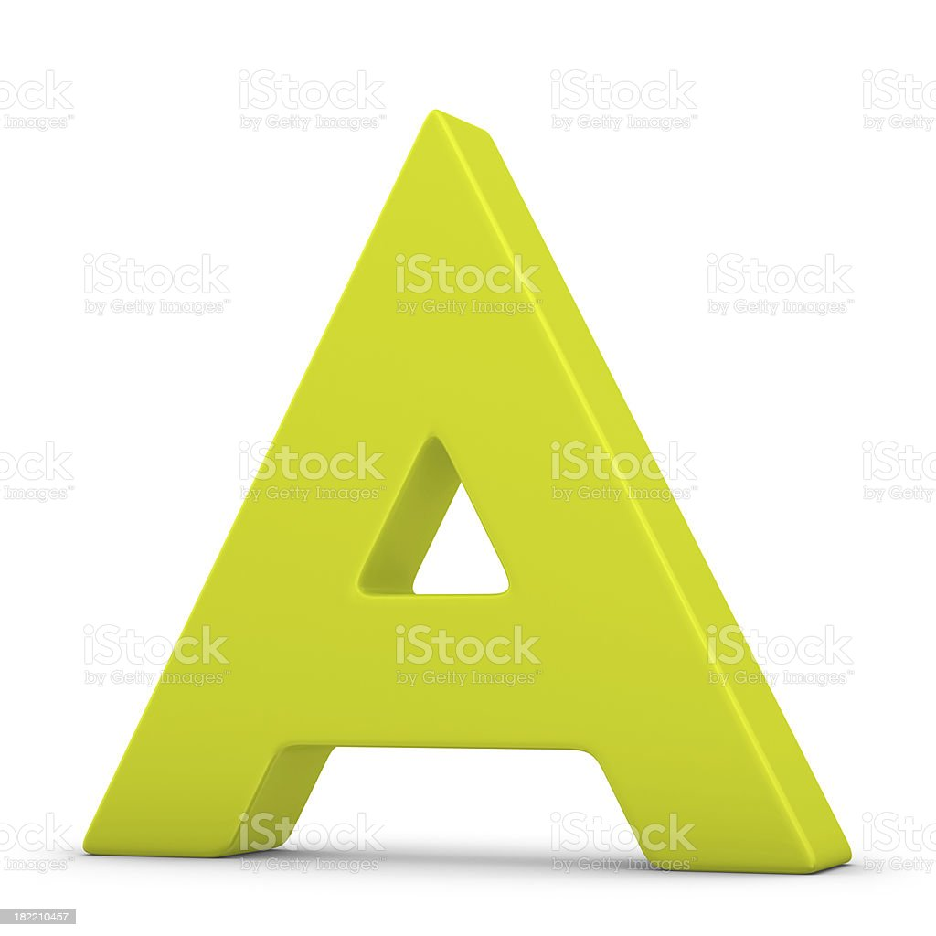 green letter A royalty-free stock photo