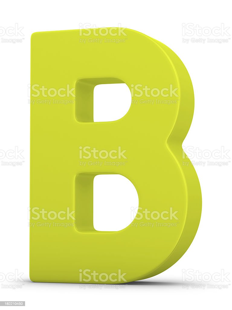 green letter B royalty-free stock photo