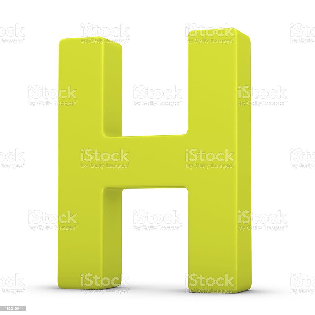 green letter H royalty-free stock photo