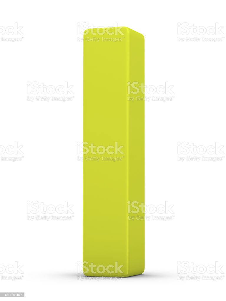 green letter I royalty-free stock photo