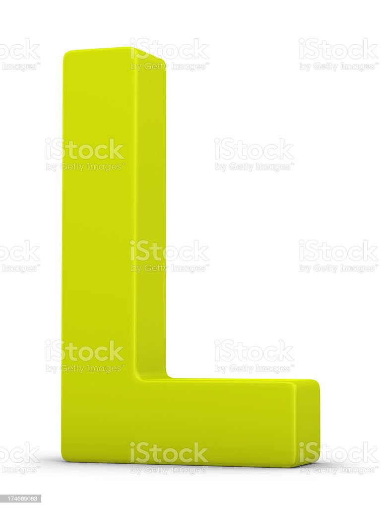 green letter L stock photo