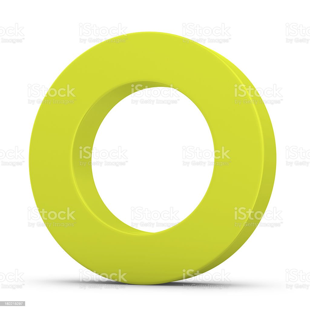 green letter O stock photo