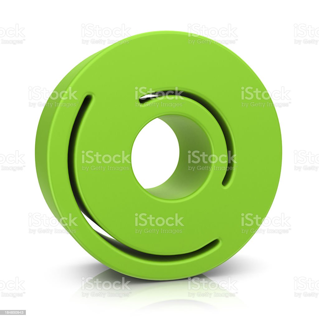 Green Letter O royalty-free stock photo