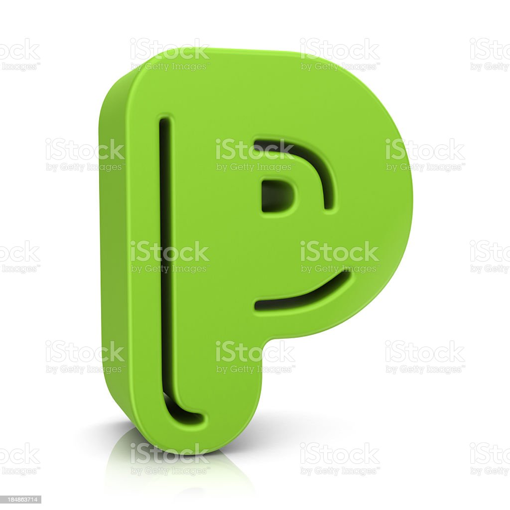 Green Letter P royalty-free stock photo