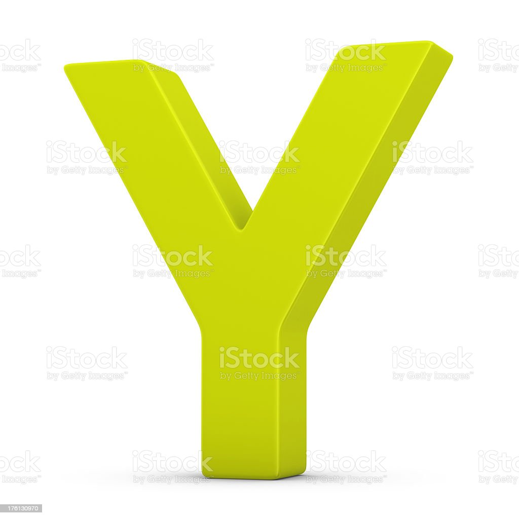 green letter Y royalty-free stock photo