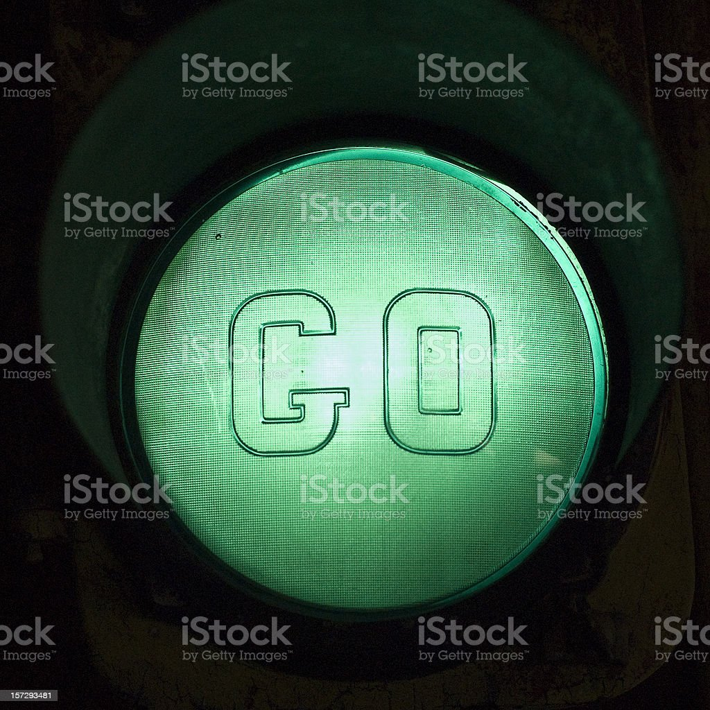 Green Light GO stock photo