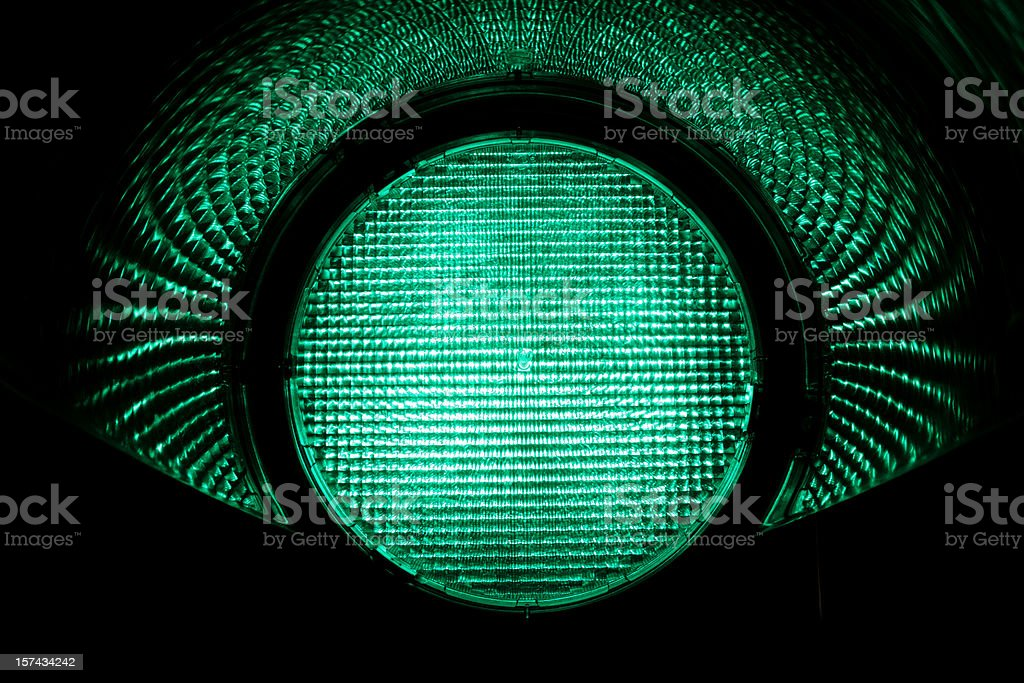 Green Light stock photo