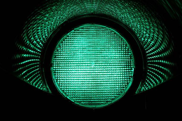 緑色照明 ストックフォト